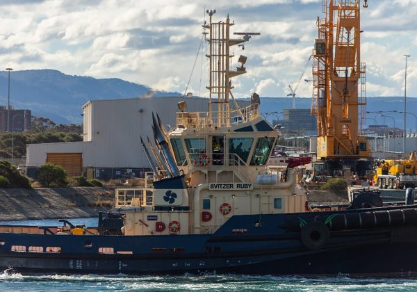 Port Kembla shipping community welcomes Svitzer Ruby